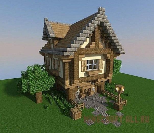 как построить красивый дом а майнкрафте #9