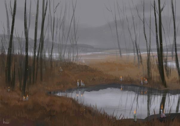 Не нервничай, только лишь будет осень, мы уйдем отсюда через болота. Но осень коварна, печальна, она реквием года и уходящей жизни. Лес гниет, плачет бесконечными дождями, и маленький