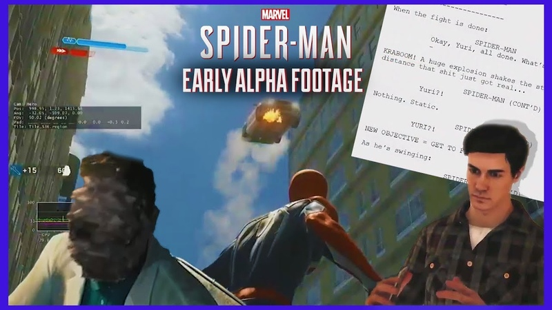 Spider Man PS4 Early Alpha Footage and Prototypes 2019