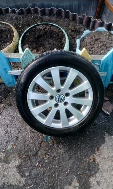 Продам комплект колес на оригинальном литье-WW R16. 205/55.  5/112.  Цена...