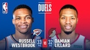 Damian Lillard Russell Westbrook Both Drop 30 In Game 3 | April 19, 2019 NBANews NBA Thunder RussellWestbrook Blazers DamianLillard