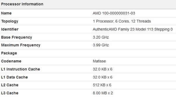 Шестиядерный AMD Matisse (Zen 2) оказался быстрее