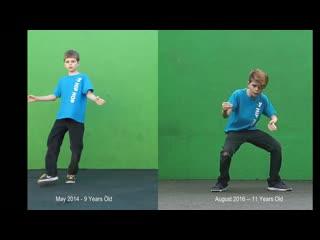 Танец после двух лет практики (700 часов тренировок)