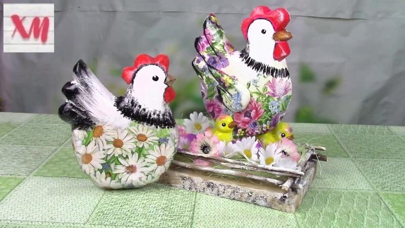 Курочка с цыплятами своими руками DIY chicken with chickens ХоббиМаркет