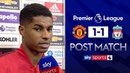 We deserved to win Man United 1 1 Liverpool Marcus Rashford Post Match Interview