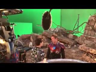 Паучок и Железный-Человек за кадром