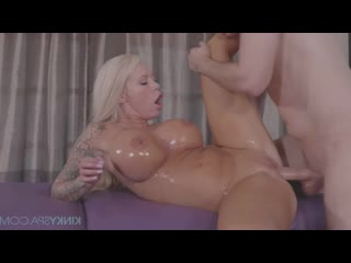 KinkySpa E76 Lolly Ink- Big tit tattooed blonde gets fucked by her hot masseur - Kinky Spa Massage Oiled MILF Big Natural Boobs