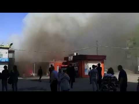 Пожар произошёл на рынке Эльдорадо в Иркутске 6 июня