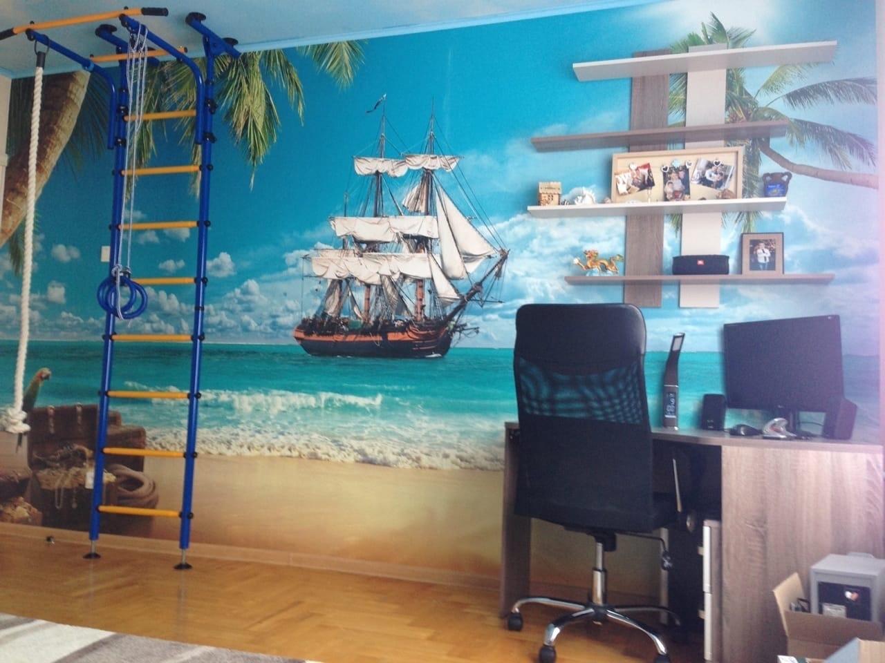 Сделали вот такую детскую комнату для двух кладоискателей