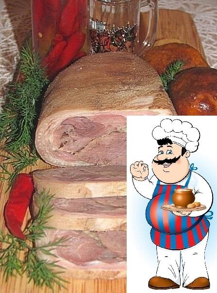 Рулька свиная запеченая Итак, замочив рульку в воде на пару часов, отскоблив с неё печати и прочую гадость, начинаем готовку. Ингредиенты: 1. Рульки 1-2 шт. 2. Мясо говяжье (неважно какая часть)