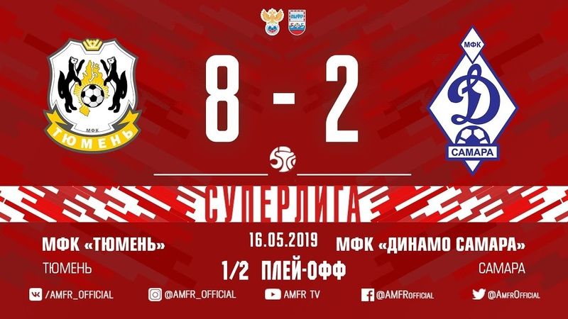 Суперлига. 1/2 плей-офф. Тюмень - Динамо Самара. Матч №2. 8:2. Обзор.
