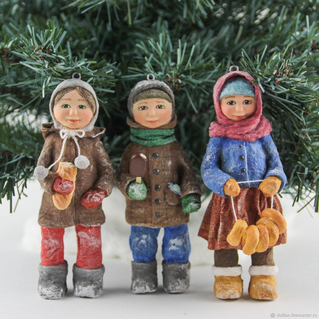 Ватные игрушки от Натальи Анисимовой DOLLiAN