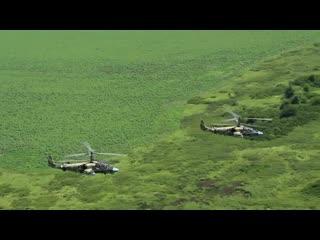 Ударные вертолеты поднялись над Кубанью