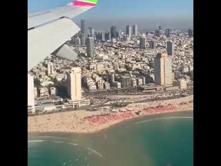Посадка в Израиле, вид из самолета