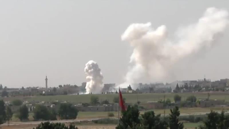 В ходе боёв за п. Тель Абъяд 12 октября турецкая армия, судя по всему, применила снаряды, содержащие т.н. белый фосфор.
