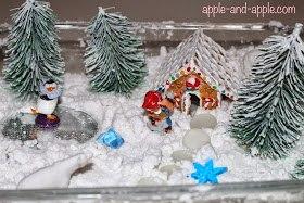 ЗИМНЯЯ СЕНСОРНАЯ КОРОБКА. ДЕЛАЕМ СНЕГ Здесь все зависит от вашей фантазии, вариантов оформления такой коробки великое множество! Самое главное - это снег. Это может быть и сам снег - зимой