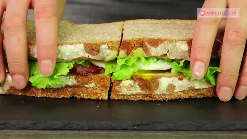 Перекус которому рады все! Большой и сытный сэндвич с домашним хлебом - заменит обед!