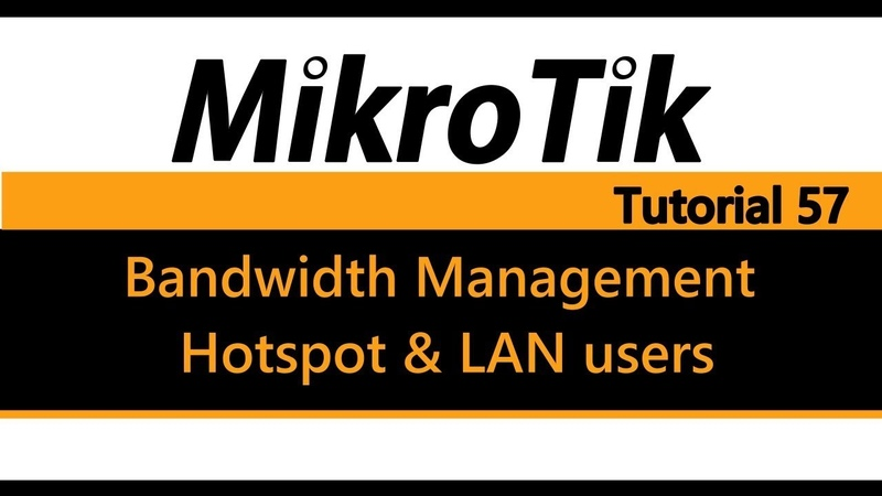 MikroTik Tutorial 57 - Bandwidth Management for Hotspot and LAN users (Lab3)