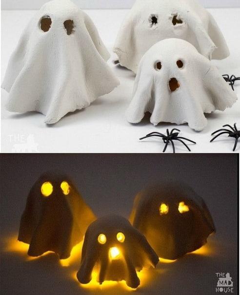 Идеи поделок на Хэллоуин (тут очень много идей, в конце прикреплен целый альбом на эту тему)