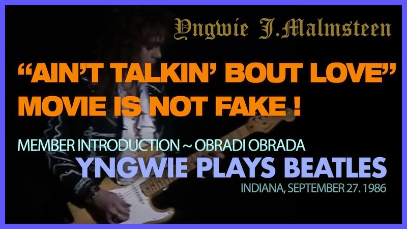 Yngwie Plays Ob la di ob la da Beatles in Indiana September 27 1986