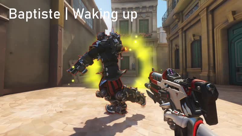 Sombra have new sleeping pose too, Baptiste have weird waking up animation