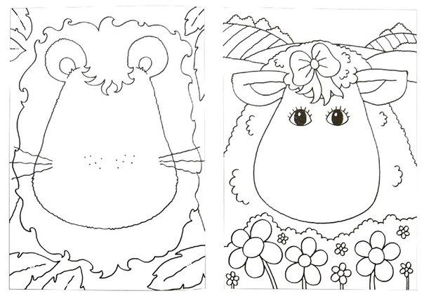 ЛАБОРАТОРИЯ СМЕШНЫХ ЗВЕРОПОРТРЕТОВ На большом листе собрана коллекция зубастых улыбок, разноцветных глаз и смешных носов. С ее помощью, а также с помощью карандашей и красок малыш сможет придать