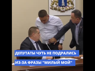 """В Ульяновске депутаты чуть не подрались из-за фразы """"милый мой"""""""