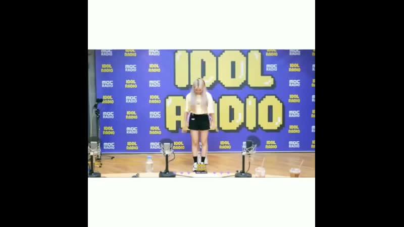 раон и биан станцевали под as If It's your last на idol radio