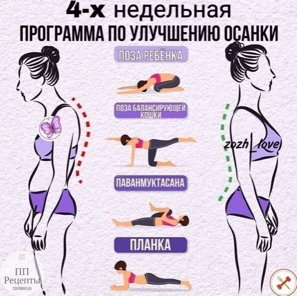 Отличная подборка упражнений для худеющих