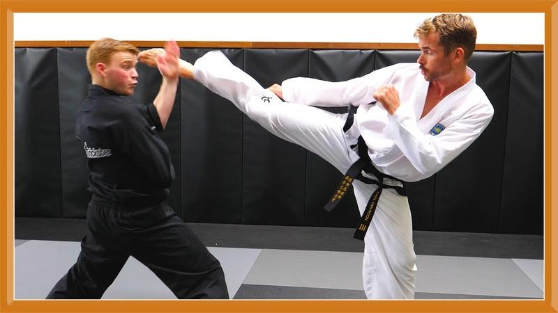 Ginger Ninja Trickster Vs World Champion Taekwondo Fight