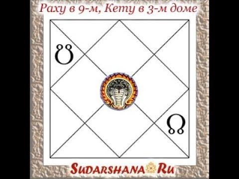 Характеристики Кету в 3 м и Раху в 9 м домах гороскопа Людмила Борисова