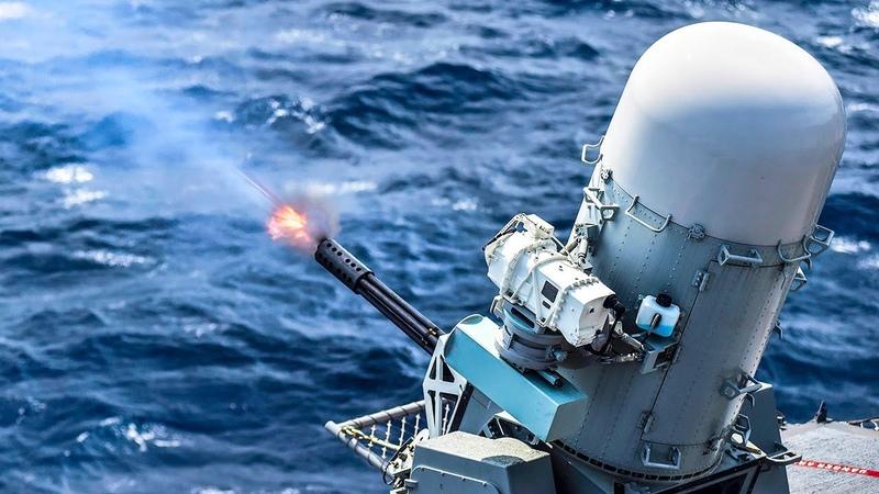 US Navy's Phalanx CIWS Training Testing