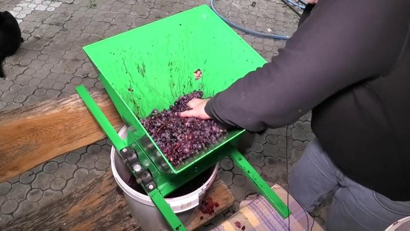 Обзор эффективной дробилки (мялки) для винограда. 20 кг за 45 секунд