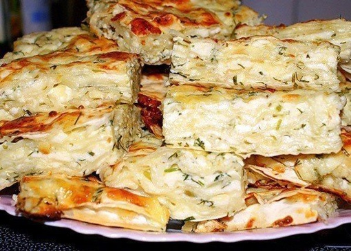Пирог сырный из лаваша с зеленью