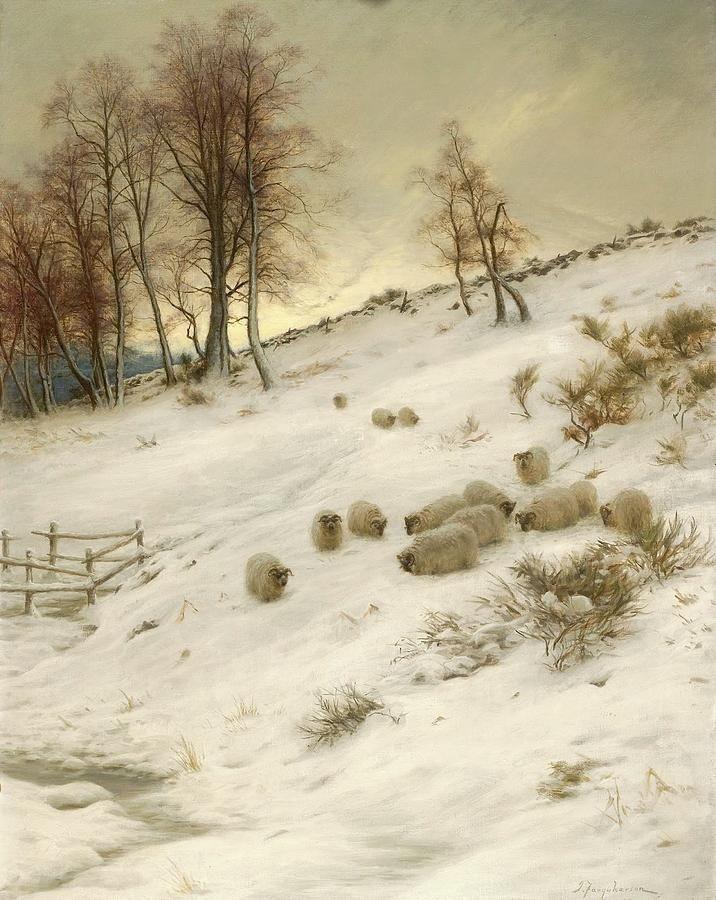 Joseph Farquharson объединил долгую и плодотворную карьеру художника с унаследованным (с 1918 года) титулом шотландского лэрда (помещика, владельца наследственного имения).