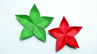 Easy origami flower   Origami Flower Sakura  Origami Cherry Blossom  How To Make Paper Flower Sakura