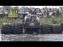 Машина бигфут с 2-мя парами колёс, вместо одного как у всех, она же Монстр-траки Monster Truck, гряземес в соревнованиях в грязи, болоте!