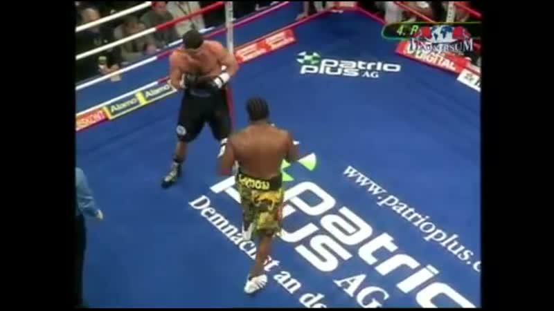 Бой после нокаута 14 сек на настиле ринга ПРЕДЕЛ ПРОЧНОСТИ 28 09 2005 г Hamburg Luan Krasniqi vs Lamon Brewster