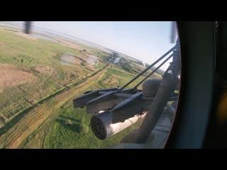 Ракетные стрельбы молодых экипажей вертолетов Ми-8 под Курганом