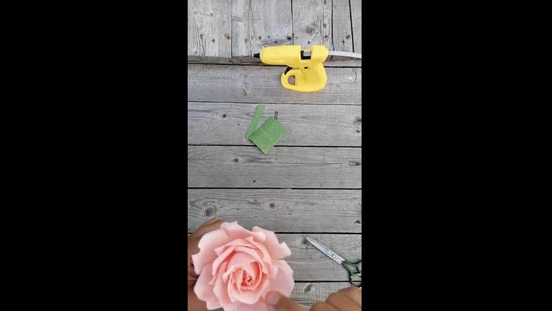 МК заколка Роза
