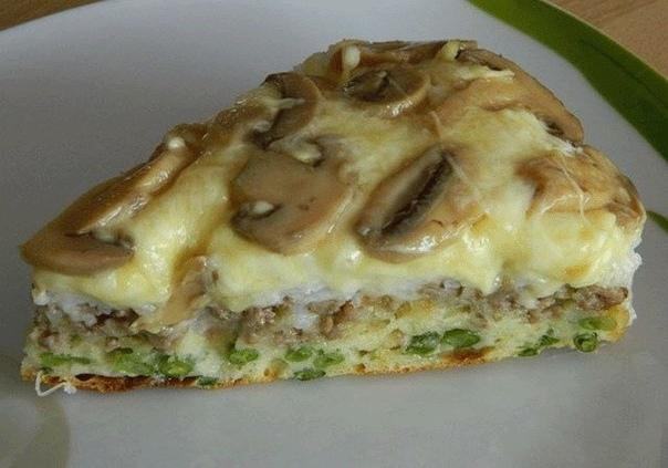 Божественный Слоёный пирог-перевёрнтыш Нужно :Для теста:3 яйца,1 ст. кефира,1-1 1/5 ст. муки (чтоб тесто было как на оладьи),1 ч.л. соли1ч.л. соды погасить уксусом или 2 ч.л.