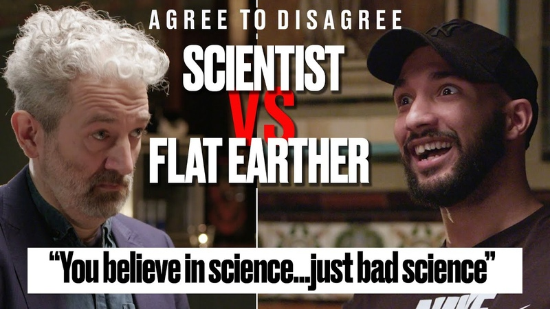 Flat Earther vs Scientist Does Flat Earth Theory Make Sense   Agree To Disagree   LADbible