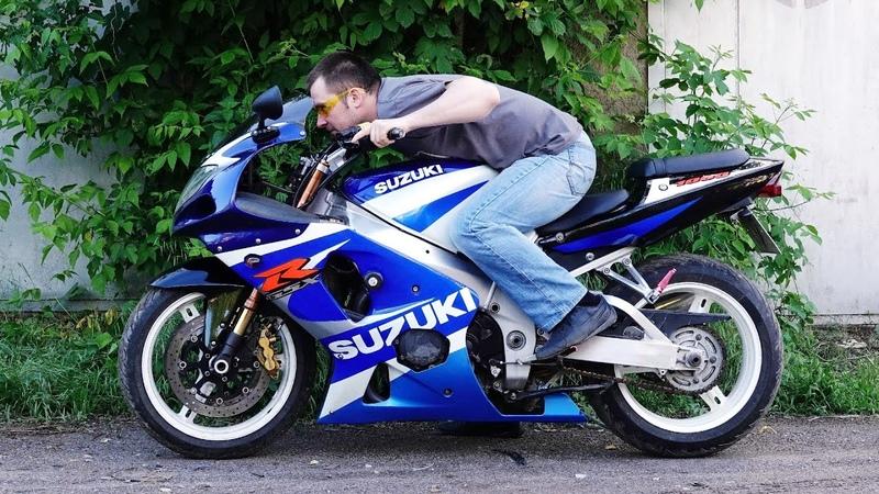 Поменял ашан байк на литровый спортбайк Suzuki GSX R 1000 упал