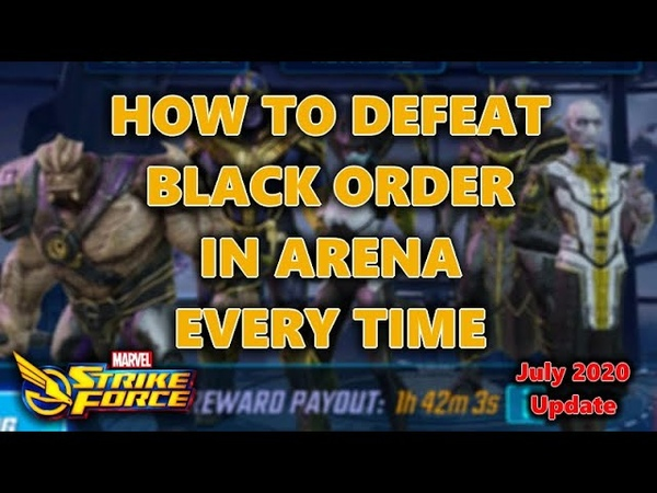 How to Defeat Black Order in Arena | 100 | Easy Mode | Marvel Strike Force | MSF