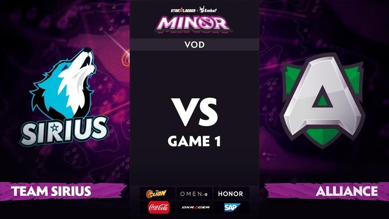[RU] Team Sirius vs Alliance, Game 1, StarLadder ImbaTV Dota 2 Minor S2 Playoffs