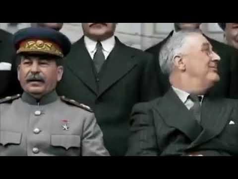 ЧЕРЧИЛЛЬ ВРУЧИЛ СТАЛИНУ МЕЧ ГЕОРГА VI Тегеранская конференция 1943г
