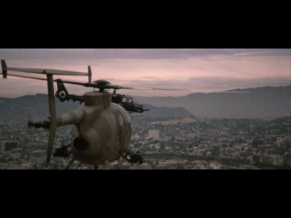 Blue Thunder: Malcom McDowell mounts up...