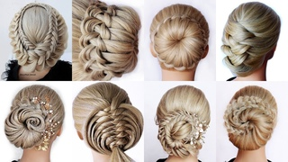 😱 9 Easy UPDO HAIRSTYLES Tutorial😍 Wedding Prom Updo perfect for long, medium & shoulder length ha