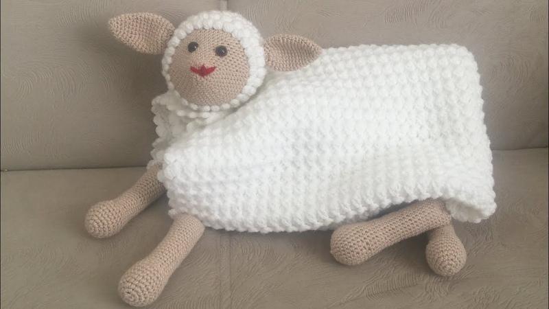 UYKU ARKADAŞI ( Kuzu battaniye , Amigurumi battaniye,Tığ işi kolay bebek battaniyesi ) PART 1