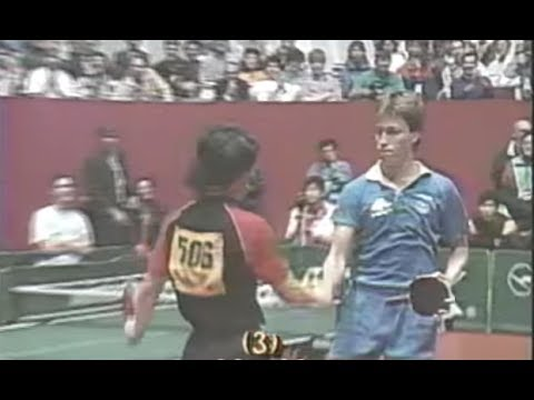 1989 WTTC Yoo Nam Kyu vs Jan Ove Waldner 유남규 대 발트너 Men s Team Group 7th Match